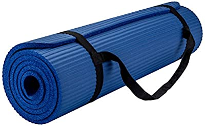 Yoga Mat with Carrying Travel Bag and Strap Thickness Thick Nbr Multiple Use Exercise