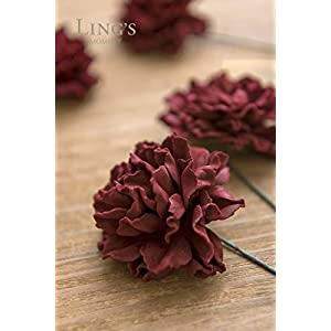 Ling's moment Artificial Foam Carnation Flowers for Wedding Bouquet Table Centerpieces Decor 2