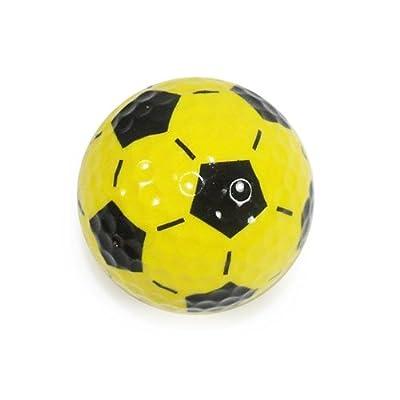 Nitro Novelty Golf Balls Soccer Ball Display Tube (3 Pack), Yellow