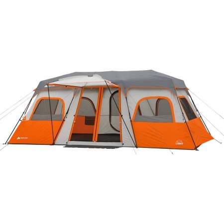 Ozark Trail 18'' x 10' Instant Cabin Tent with Integrated Led Light, Sleeps 12 by Ozark Trail