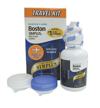 Boston® Simplus® Multi-Action Solution Travel Kit and lens case