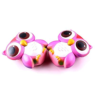 Yamart Toys for Relax,Decompression Toys,15cm Lovely Pink Owl Cream Scented Squishy Slow Rising Squeeze Toys Collection: Toys & Games