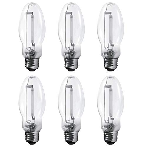 Luxrite LR20690 (6-Pack) LU70/ED17 70-Watt HID High Pressure Sodium Light Bulb, Warm White 2100K, 6300 Lumens, E26 Medium Base