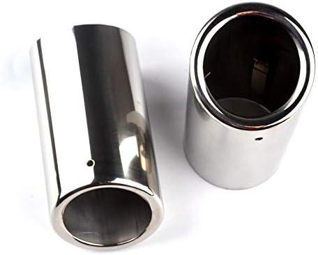 YIWANG Juego de 2 embellecedores para tubo de escape de acero inoxidable para S60 V60 2014-2019