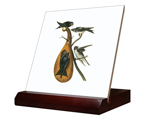 purple-martin-james-audubon-birds-ceramic-tile-with-wood-stand-6-inch-tile