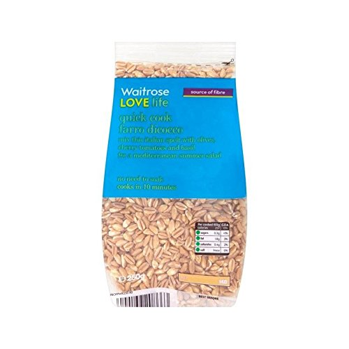 Quick Cook Farro Dicocco Waitrose Love Life 250g - Pack of 6