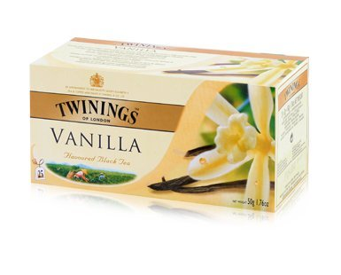 Twinings Vanilla Tea, Fine Tea with the Rich Sweet Taste of Vanilla 25 Sachets Net Weight 50g