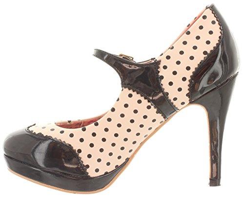 Sintético Mujer Beige black Beige Banned De Vestir Material Para Zapatos YqTwvI
