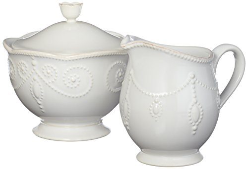 Lenox - French Perle White - Creamer & Sugar Set