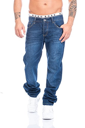 Herren Jeans Hose Straight Fit ID408
