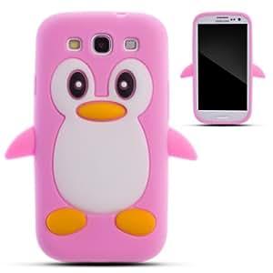 Zooky® rosa silicona pingüino FUNDA / CARCASA / COVER para Samsung Galaxy S3 i9300