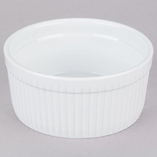 (TableTop King SFB-32 32 oz. White China Fluted Souffle Bowl - 12/Case)