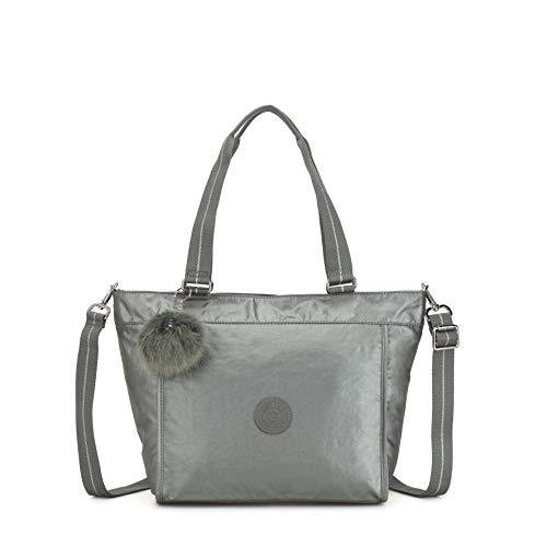 - Kipling New Shopper S, Women's Tote, Grey (Metallic Stony)