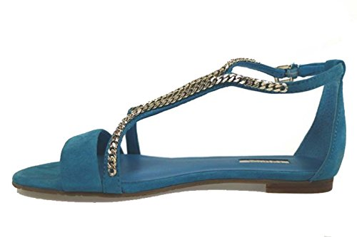 scarpe donna GUESS sandali blu camoscio AP774