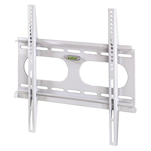 Hama TV-Wandhalterung Ultraslim für 81-142cm Diagonale (32-56 Zoll) Fernseher (max. 50 kg) VESA 50 x 50 bis 400 x 400, Wandabstand weiß