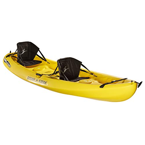 Ocean Kayak Malibu Two Tandem Sit-On-Top Recreational Kayak, Yellow, 12 Feet