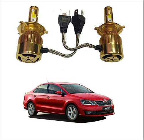 Trigcars Skoda Rapid 2018 Gold Model H4 Car Light | 36W