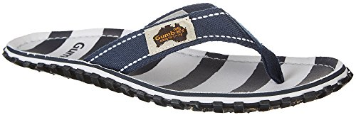 Gumbies Islander Unisex Canvas Flip Flops Manly Red Deck Chair