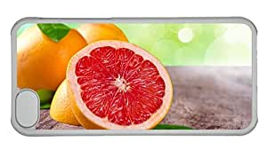 Cheap carrying iphone covers Grapefruit fruit leaves orange red PC Transparent for Apple iPhone 5C