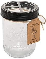 Plomkeest 16 oz Mason jar Toothbrush Holder Rust Proof 304 Stainless Steel Rustic Farmhouse Decor Bathroom Accessories