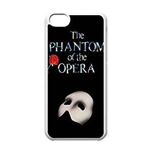 and Classical Style Case with Phantom of the Opera babys Lightweight Plastic Protective It Back until Cover for iphone 4s -White031203