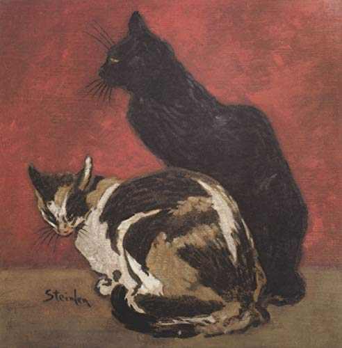 (Home Comforts Laminated Poster Steinlen, Theophile Alexandre - Cats Vivid Imagery Poster Print 24 x 36 )