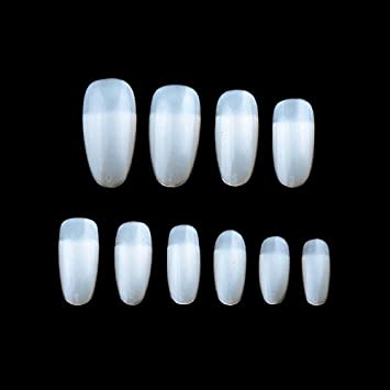Amazon.com : Lznlink Fake Nail Tips Short Stick Practice For Painting Polishing Gel Showing Tools Manicure False Nail Art Tips 600 Pcs : Beauty