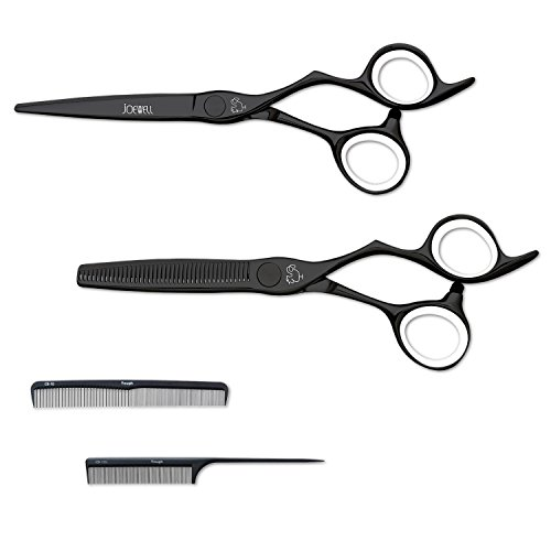 Joewell CBK Hair Cutting Shear & Thinner Set - 2 Free Combs Included (5.75'') by Joewell
