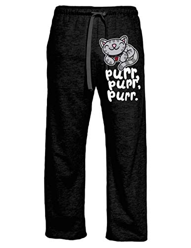 Ripple Junction Big Bang Theory Adult Soft Kitty Pur, Pur, Pur Light Weight Lounge Pants LG Heather Charcoal (Soft Kitty Warm Kitty Big Bang Theory)