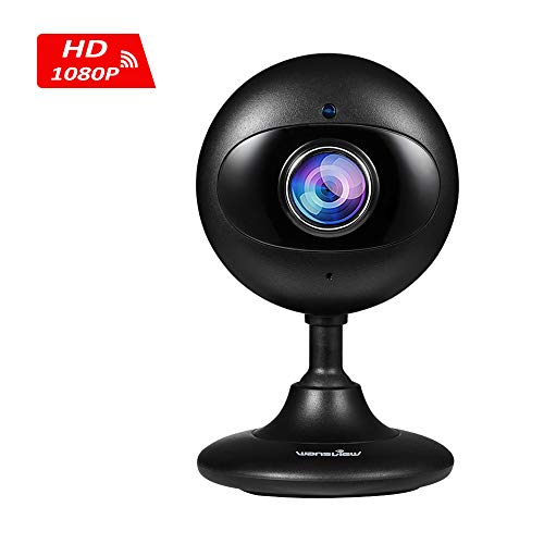Wansview Home Security Camera, 1080P Wireless WiFi Indoor IP Surveillance Indoor Camera for Baby/Elder/Pet/Nanny Monitor with Night Vision and Two-Way Audio-K3 (Black)