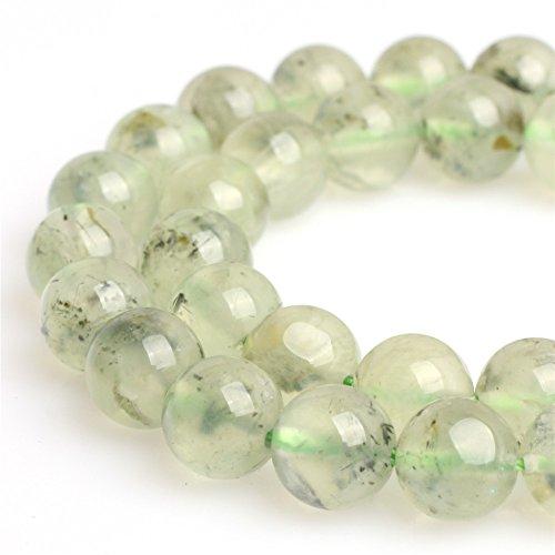 Prehnite Beads for Jewelry Making Natural Gemstone Semi Precious 8mm Round 15