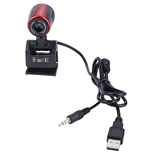 USB Webcam,16 Megapixel HD USB Camera Live Streaming with Built-in Microphone 360° Rotation and 60° Vertical Adjustment, Support Desktop and Screen Clamp Mount for Laptop PC