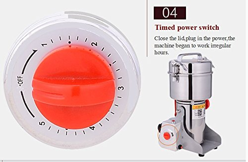 2500g Commercial Electric Grain Grinder Mill Spice Grinder Grain Powder Grinder Grinding Machine Chinese medicine Spice Herb Grinder Flour Mill Pulverizer Food Grade Stainless Steel CE approved by CGOLDENWALL (Image #3)
