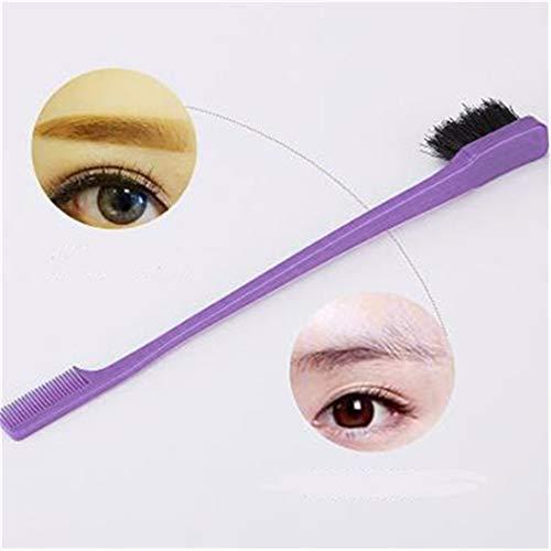 LZIYAN Edge Control Hair Brush Comb Eyebrow brush Polish Hair Tools Creative Gift For Women,Purple by LZIYAN (Image #6)