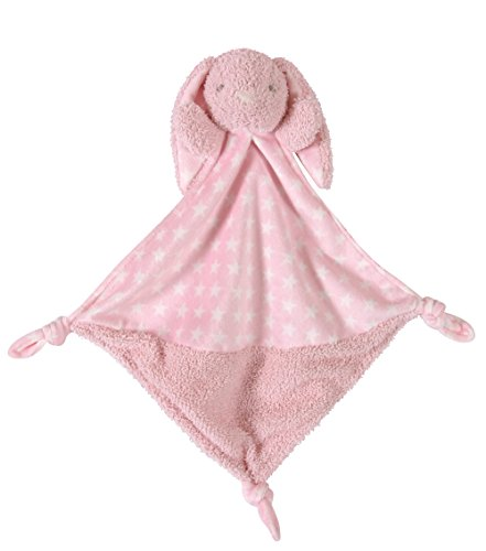 Stephan Baby Plush Knotty Animal Security Blankie, Pink ()