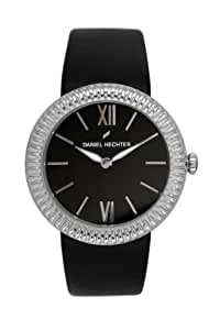 Daniel Hechter Women`s Black Dial Leather Band Watch [DHD 007/AA]