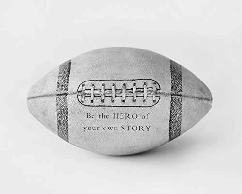 Sports Bedroom Football Wall Art Decor Print with Inspirational Quote ()
