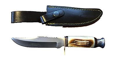 Hand Made 440 Stainless Steel Hunting Knife Pakkawood Handle Leather Sheath