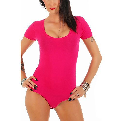 Collo U Corte Donna Maniche 320 Fuchsia Body Mellice qwIXtB7Pq