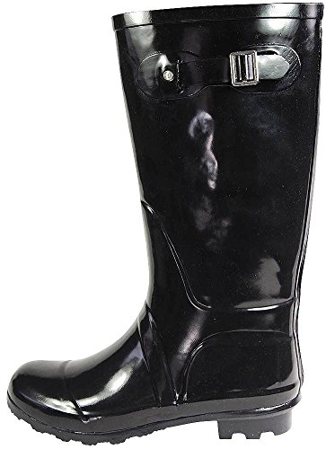 NORTY Women's Hurricane Wellie - 14 Solids and Prints - Glossy & Matte Waterproof Hi-Calf Rainboots 2