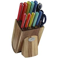 Fiesta 13-Piece Merengue Cutlery Block Set (Multi Color)