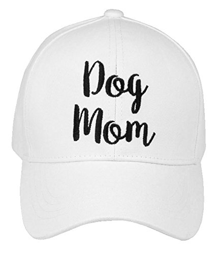 H-2018-DM-09 Saying Baseball Cap - Dog Mom (White)