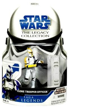 Star Wars Yellow Clone - Star Wars Legacy Collection: Saga Legends > #12 Clone Trooper Officer Yellow Action Figure by Hasbro