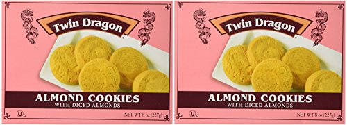 Twin Dragon Almond Cookies, 8 Oz (Pack of (Chinese Tree Dragon)