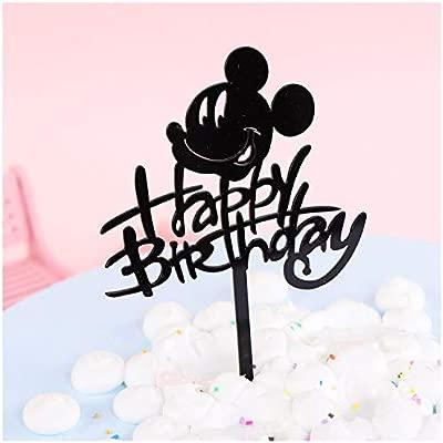 2 decoraciones para tarta de cumpleaños con diseño de Mickey ...