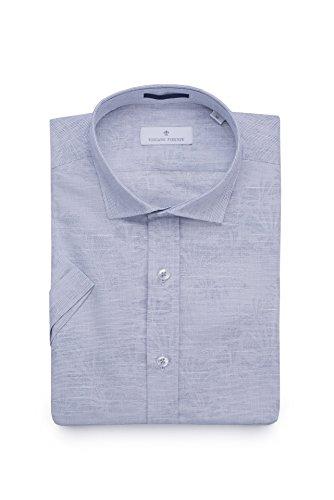 TOSCANO FIRENZE Cotton Linen Blend Subtle Stripe Janquard Patterned - Linen Shirt Toscano