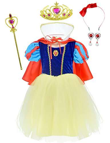 White Snow Accessories Costume (Princess Snow White Costume For Girls Dress Up With)