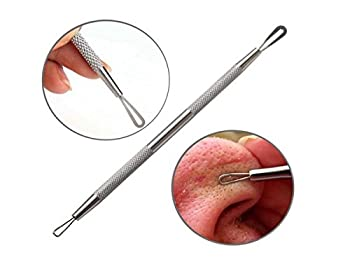Premium Stainless Steel Remove Blackheads Whiteheads Double-end Acne Needle Blemish Extractor Tool Acne Pimple Comedone Extractor Cleaner Tool