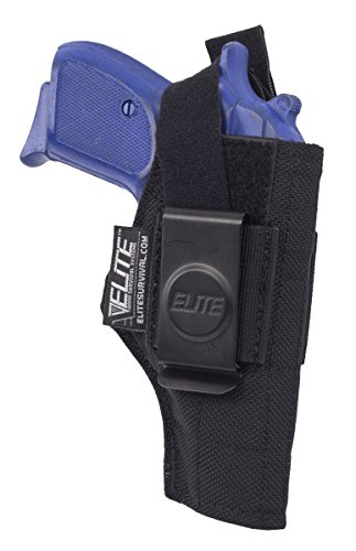 Elite IWB Concealment Holster for Walther PP/PPK/PPKS, Colt & Bersa 380 & more (Mm 9 Walther Ppk)