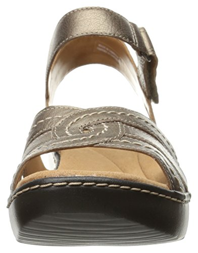 Varro Clarks Women's Delana Leather Pewter Sandal Dress TTpwfq